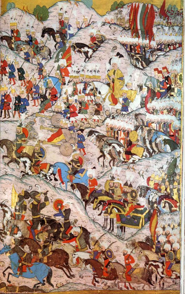 1526-Suleiman_the_Magnificent_and_the_Battle_of_Mohacs-Hunername-large