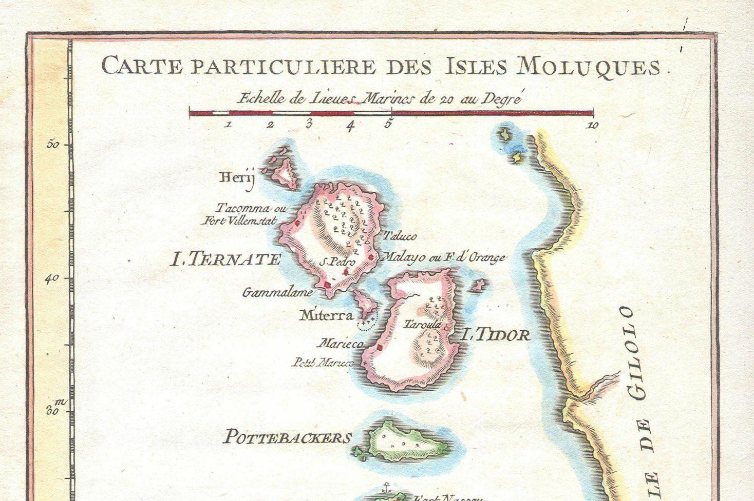 Moluccas Molukken 1760