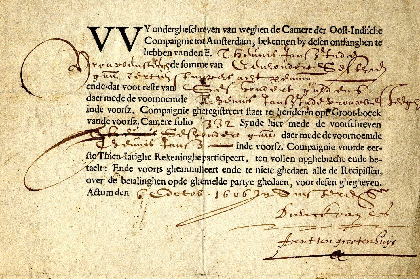 VOC Share Aktie 1606