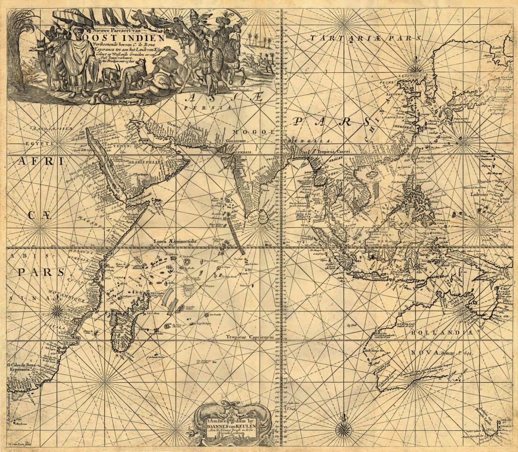 VOC Map Karte 1680-1735