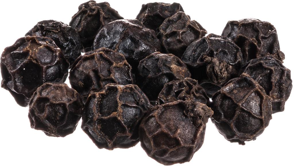 Sarawak black pepper Schwarzer Sarawak-Pfeffer Piper nigrum