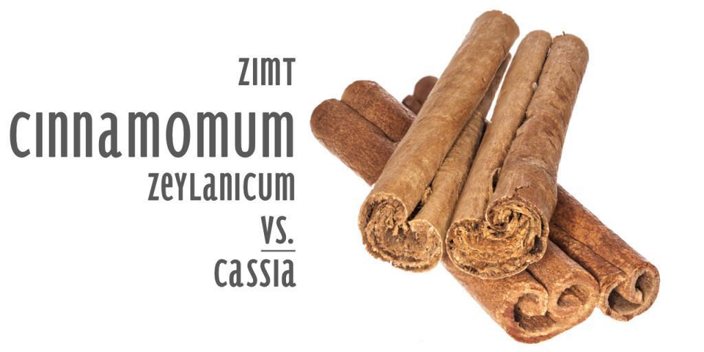 Zimt Cinnamomum zeylanicum vs. cassia