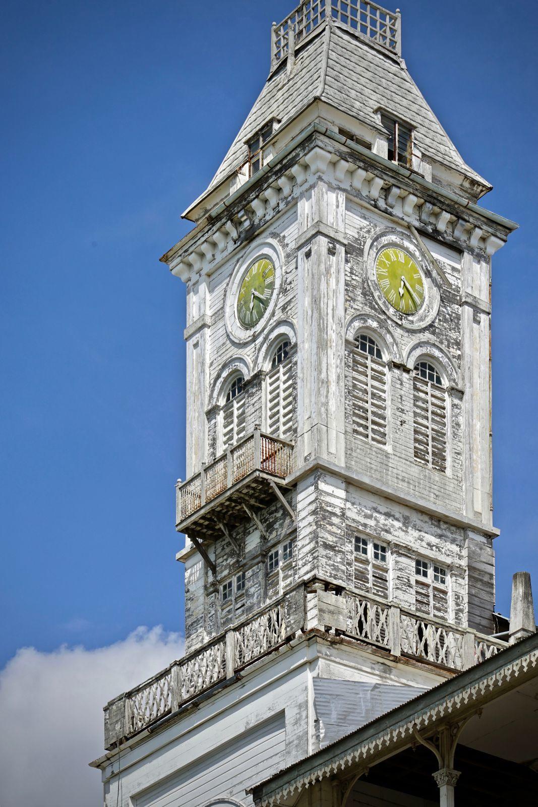 Markanter Hingucker: Der Uhrenturm des House of Wonders in Stone Town.
