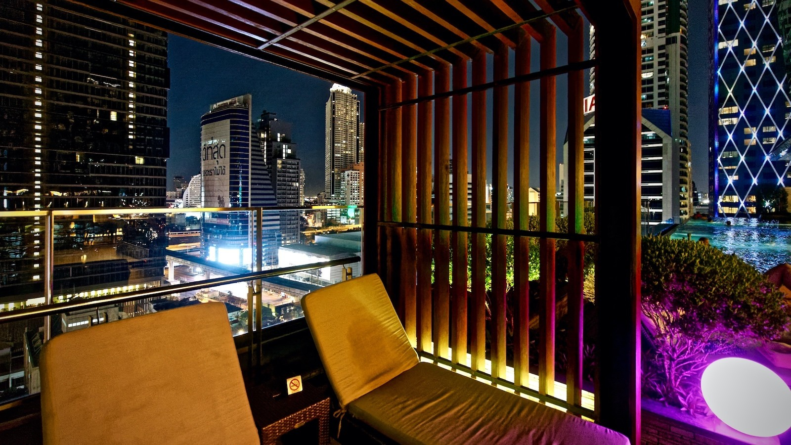 Nächtliches Bangkok