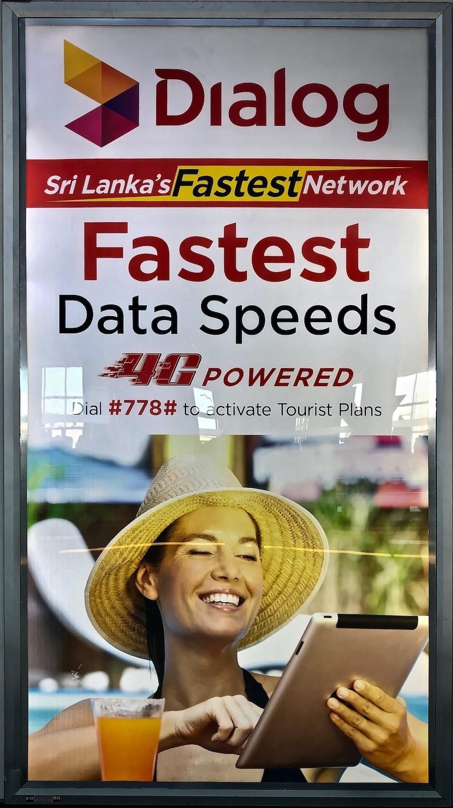 Ein lokaler Provider bewirbt 4G Internet