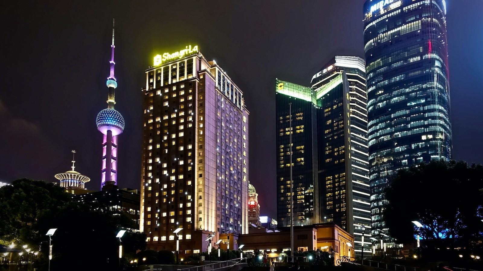 China Shanghai Pudong Skyline