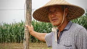 Bauer in der Gegend von Linyi, Provinz Shandong, China