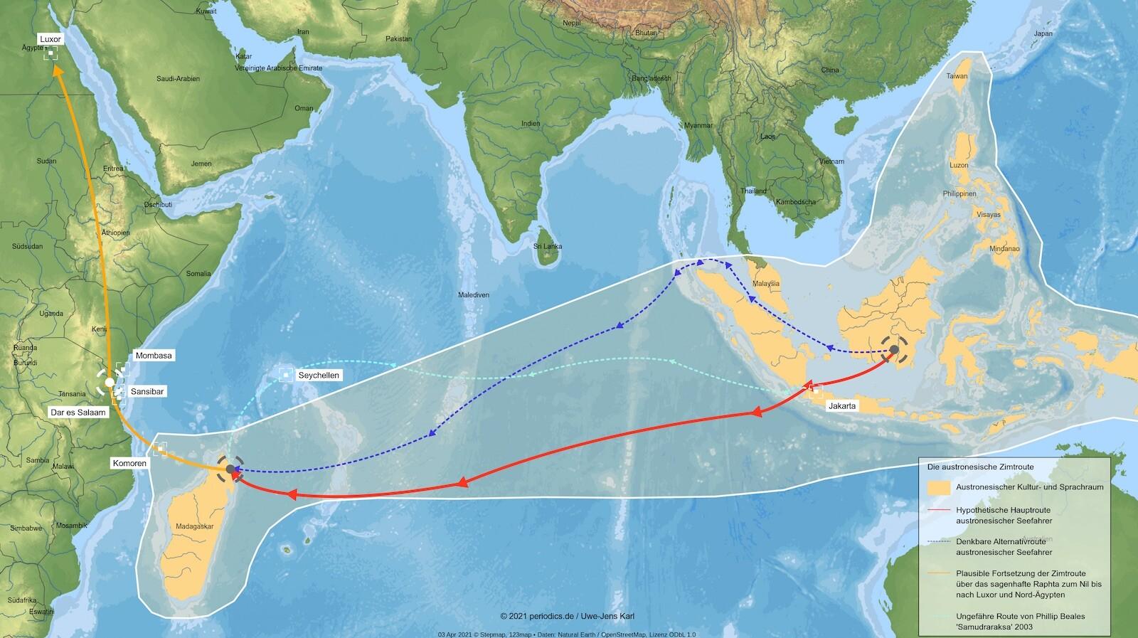 Geschichte der Gewürze austronesische Zimtroute